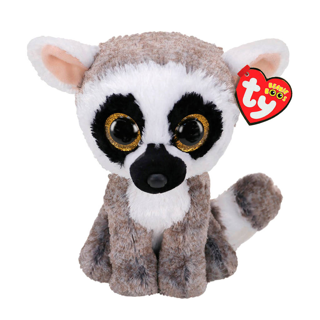 Ty Beanie Buddy Linus Lemur knuffel 24 cm