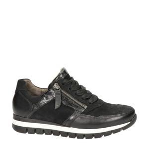 438 comfort leren sneakers zwart