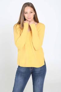 Cassis fijngebreide trui geel, Geel