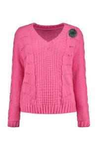POM Amsterdam by Katja trui met wol roze, Roze