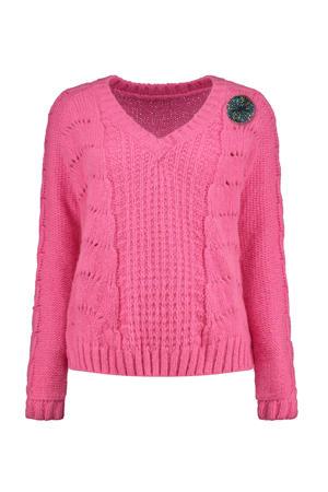 trui met wol roze