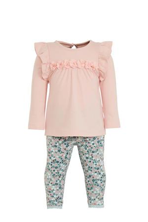 top + legging roze