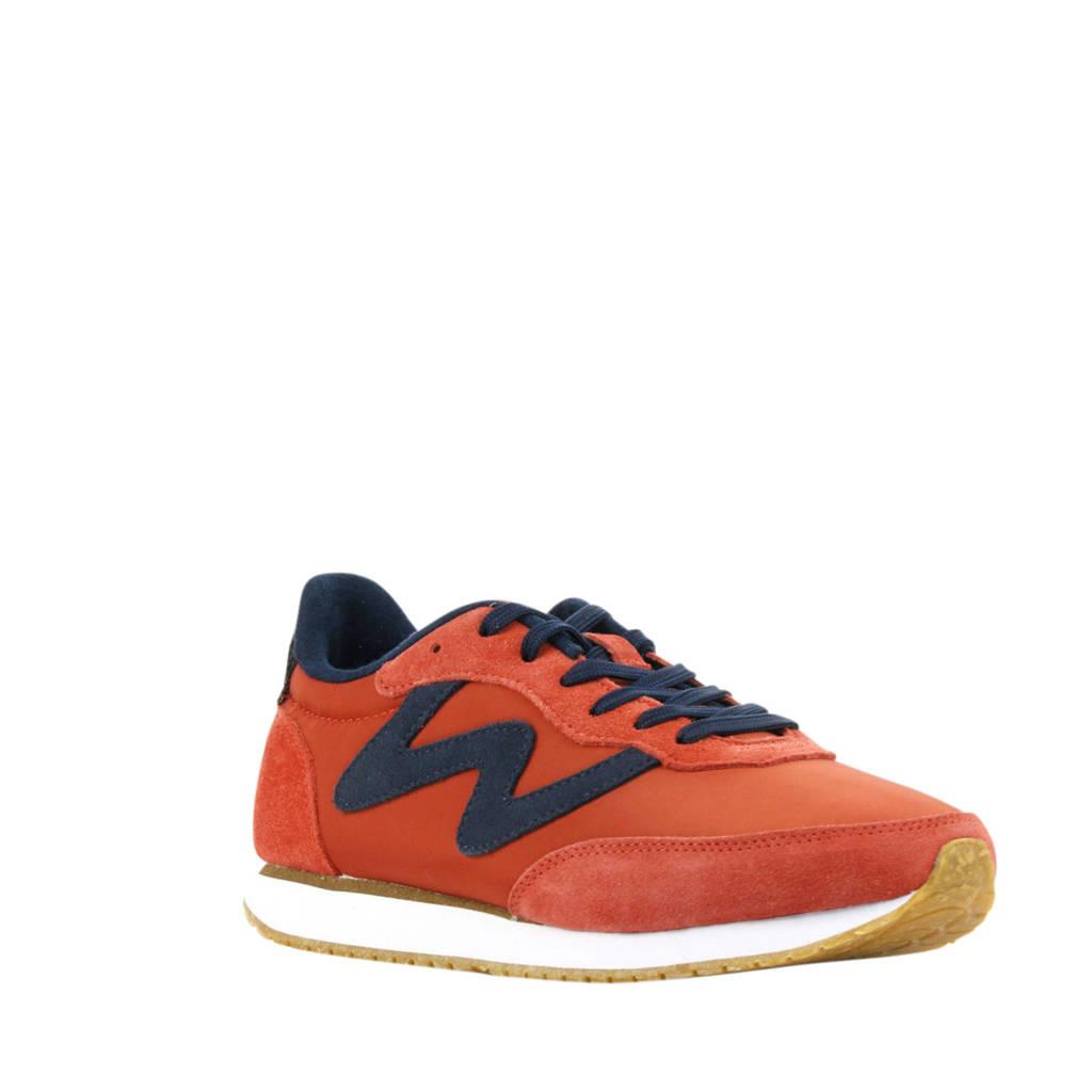 Woden Olivia II  suède sneakers oranje, Oranje