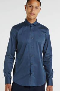 PME Legend slim fit overhemd blauw, Blauw