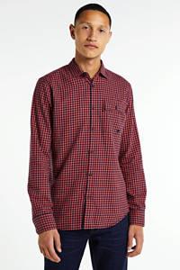PME Legend geruit regular fit overhemd zalm, Zalm
