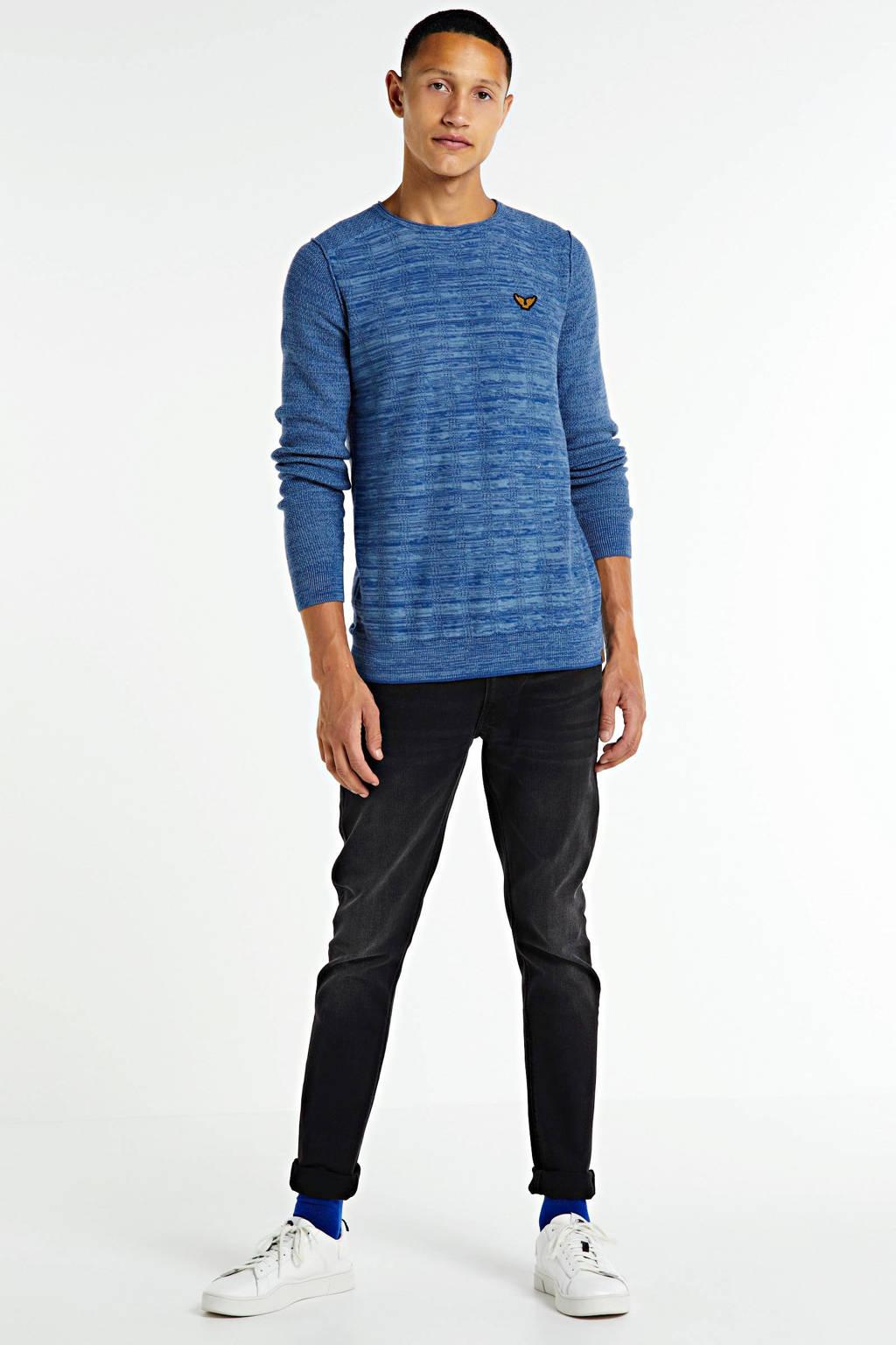 PME Legend gemêleerde trui blauw, Blauw