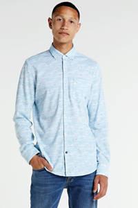 PME Legend regular fit overhemd met all over print lichtblauw, Lichtblauw