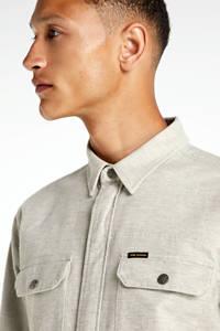 PME Legend regular fit overshirt beige, Beige
