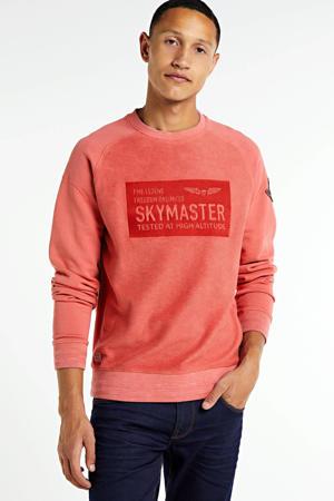 sweater met printopdruk zalm