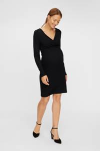 MAMALICIOUS ribgebreide zwangerschapsjurk Goa zwart, Zwart