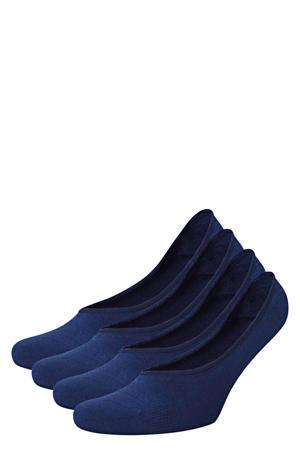 no show sokken - set van 4 blauw