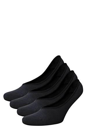 no-show sokken - set van 4 zwart
