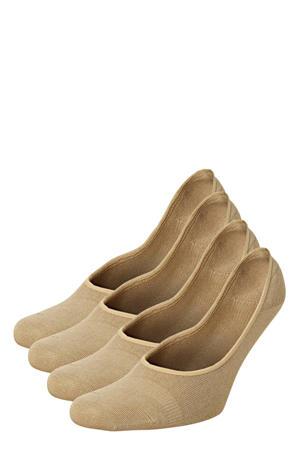 no-show sokken - set van 4 beige