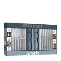 Amefa BBQ set incl. peper+zourmolen (set van 14), Denim blauw
