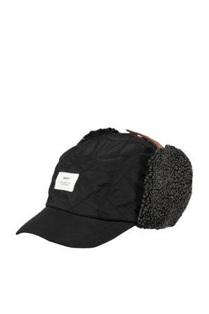 pet met oorwarmers Aspen zwart
