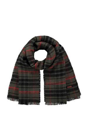 sjaal Valence kaki/zwart