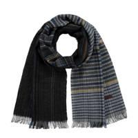 Barts sjaal Vincent zwart/grijs, Zwart/grijs