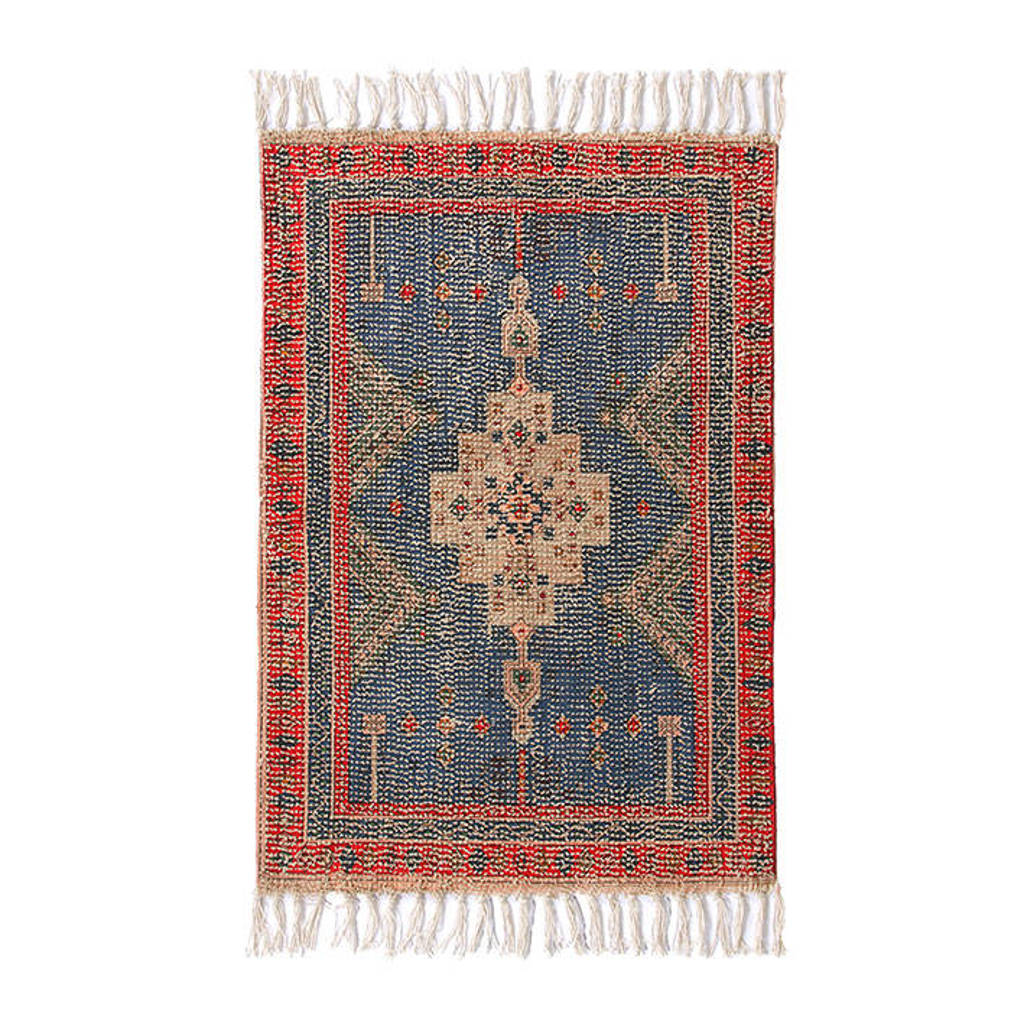 HKliving badmat (60x90 cm) Rood/blauw