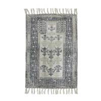 HKliving badmat (60x90 cm) Zwart/wit