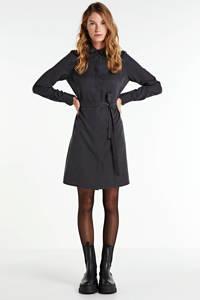 Another-Label blousejurk Peri met ceintuur antraciet, Antraciet