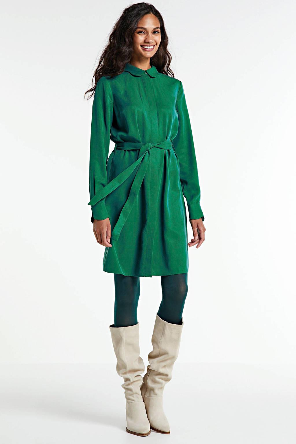Another-Label blousejurk Peri met ceintuur groen, Groen