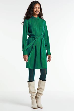 blousejurk Peri met ceintuur groen