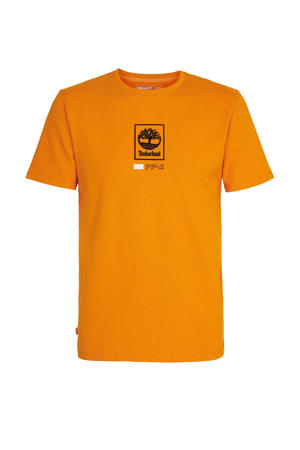 T-shirt met logo oranje/zwart/wit