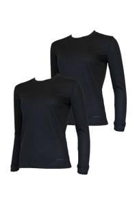 Campri thermoshirt zwart (set van 2), Zwart