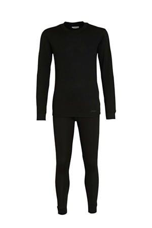 unisex thermo ondergoed zwart (set)