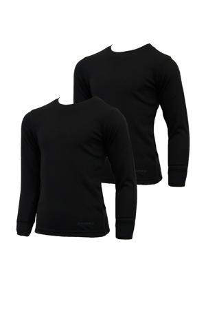 thermoshirt zwart (set van 2)