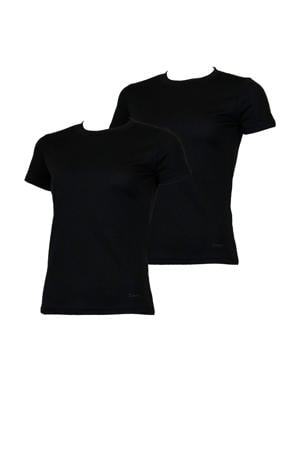 thermo T-shirt zwart (set van 2)