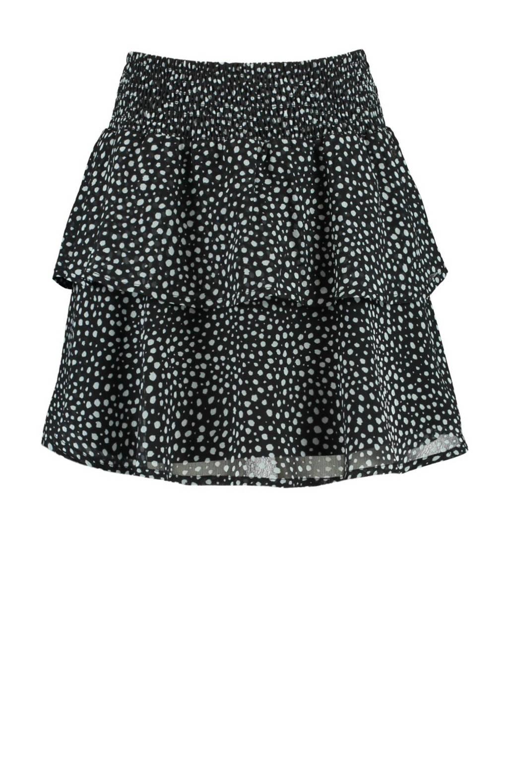 CoolCat Junior rok Ruby met slangenprint zwart/wit, Zwart/wit