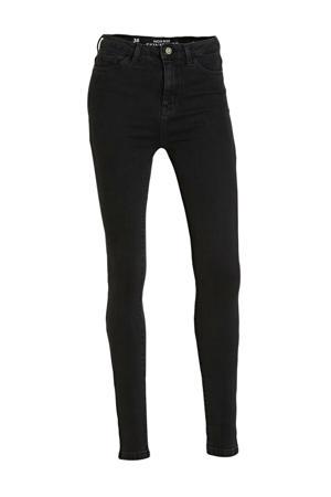high waist skinny jeans zwart
