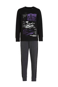 C&A Here & There   pyjama met print zwart, Zwart