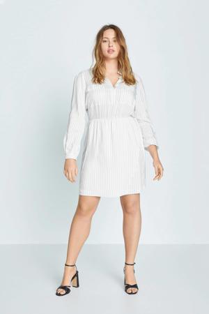 A-lijn jurk met krijtstreep wit