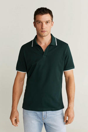 regular fit polo donkergroen