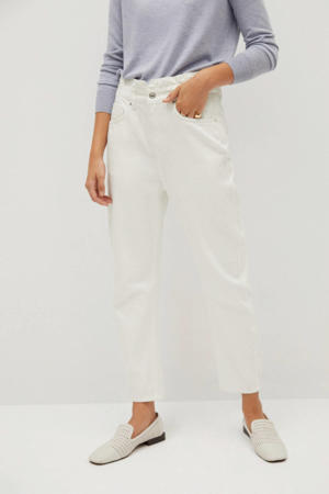 high waist straight fit jeans wit