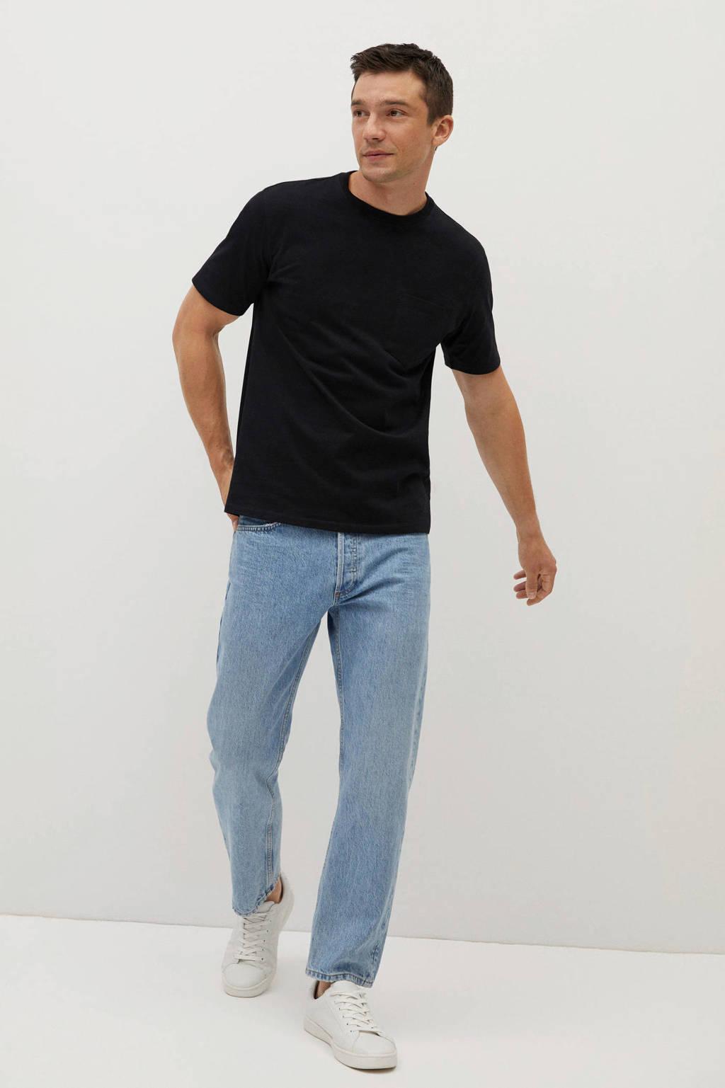 Mango Man T-shirt zwart, Zwart