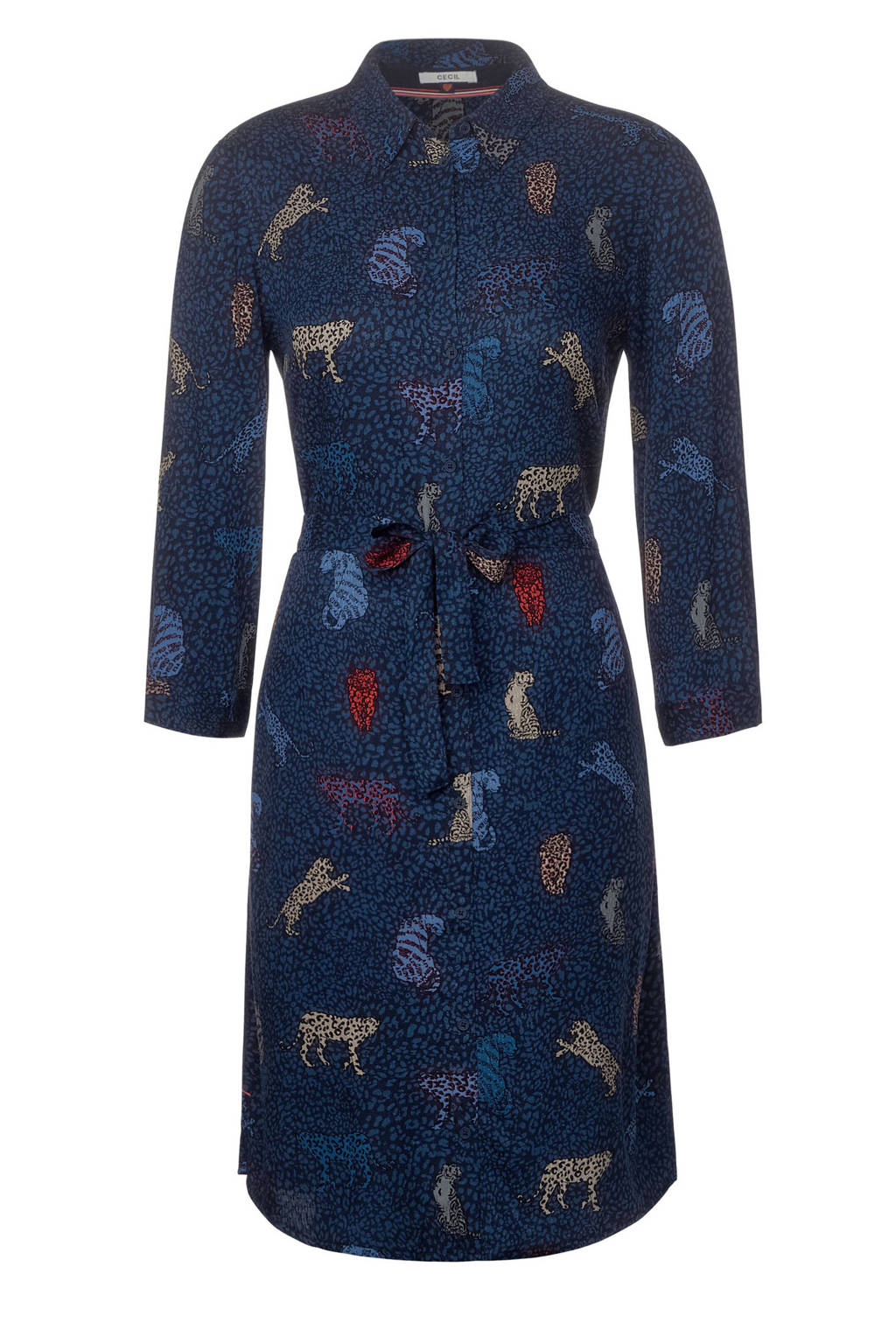 CECIL blousejurk met all over print donkerblauw, Donkerblauw