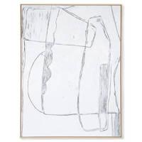 HKliving schilderij  (123x163 cm), Wit/zwart
