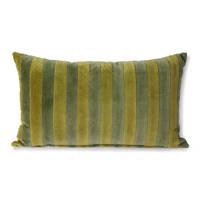 HKliving sierkussen velvet (50x30 cm), Groen/camo