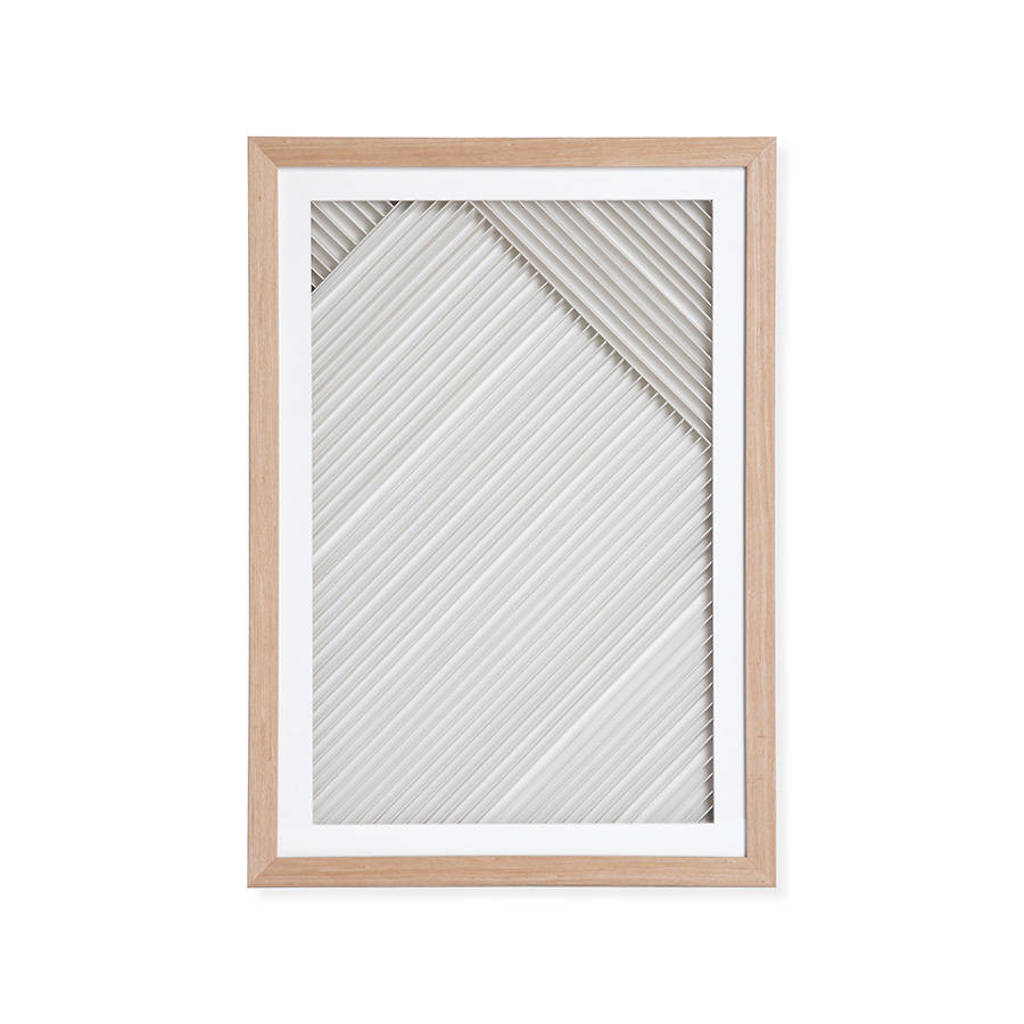 HKliving wanddecoratie  (42x4x60 cm), Naturel/wit