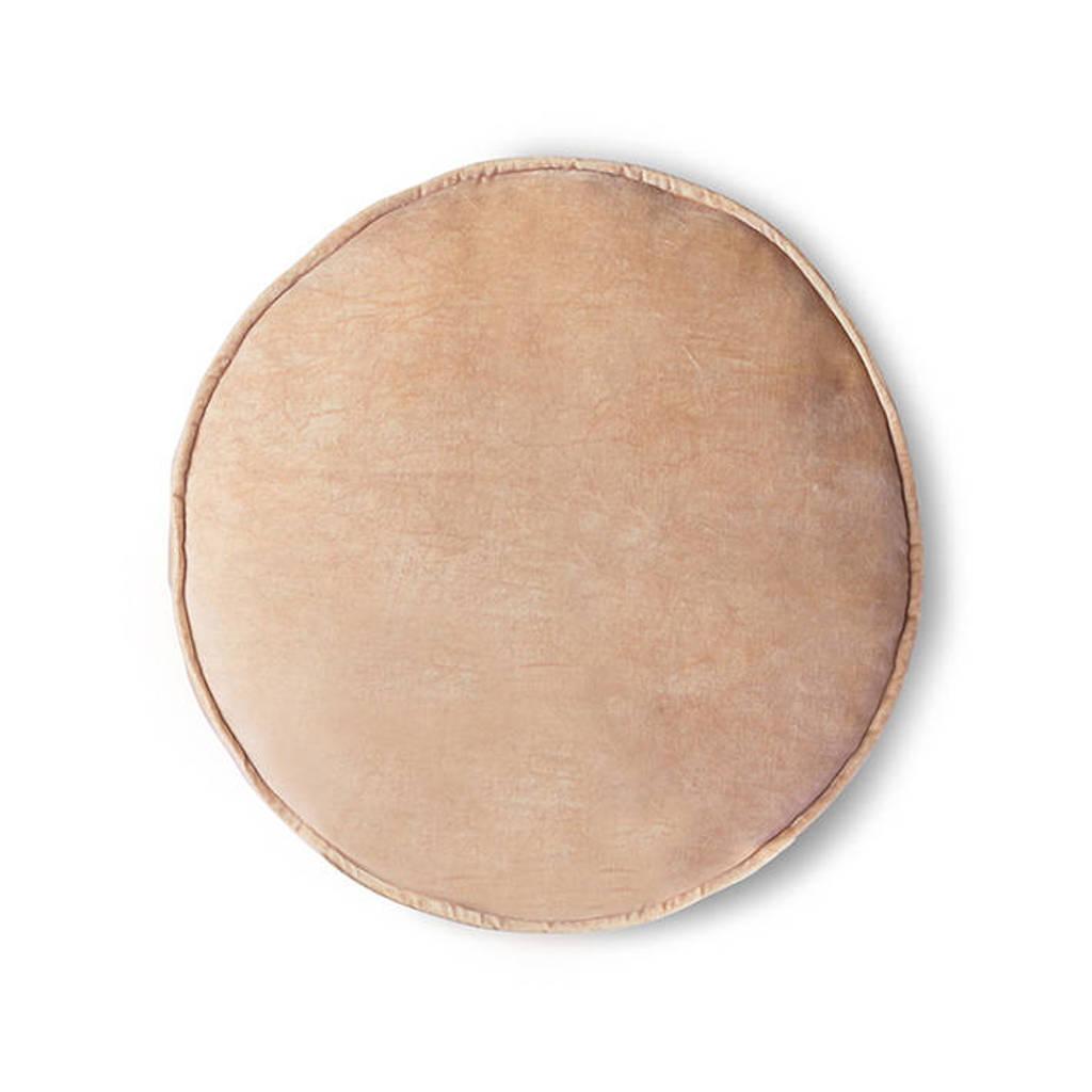 HKliving sierkussen velvet (60x60x5 cm), Peach
