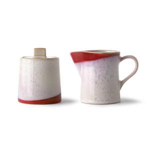 70's melk- en suikerpot