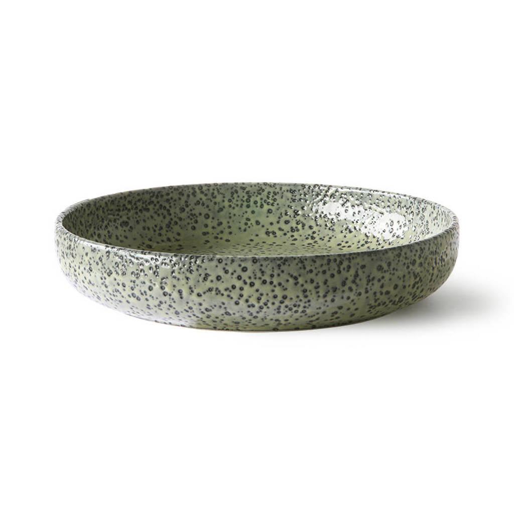 HKliving Gradient diep bord (Ø21,5 cm) (set van 2), Groen