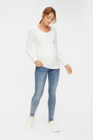 low waist slim fit zwangerschapsjeans Asja blauw