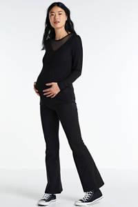 LOVE2WAIT flared zwangerschapsbroek zwart, Zwart