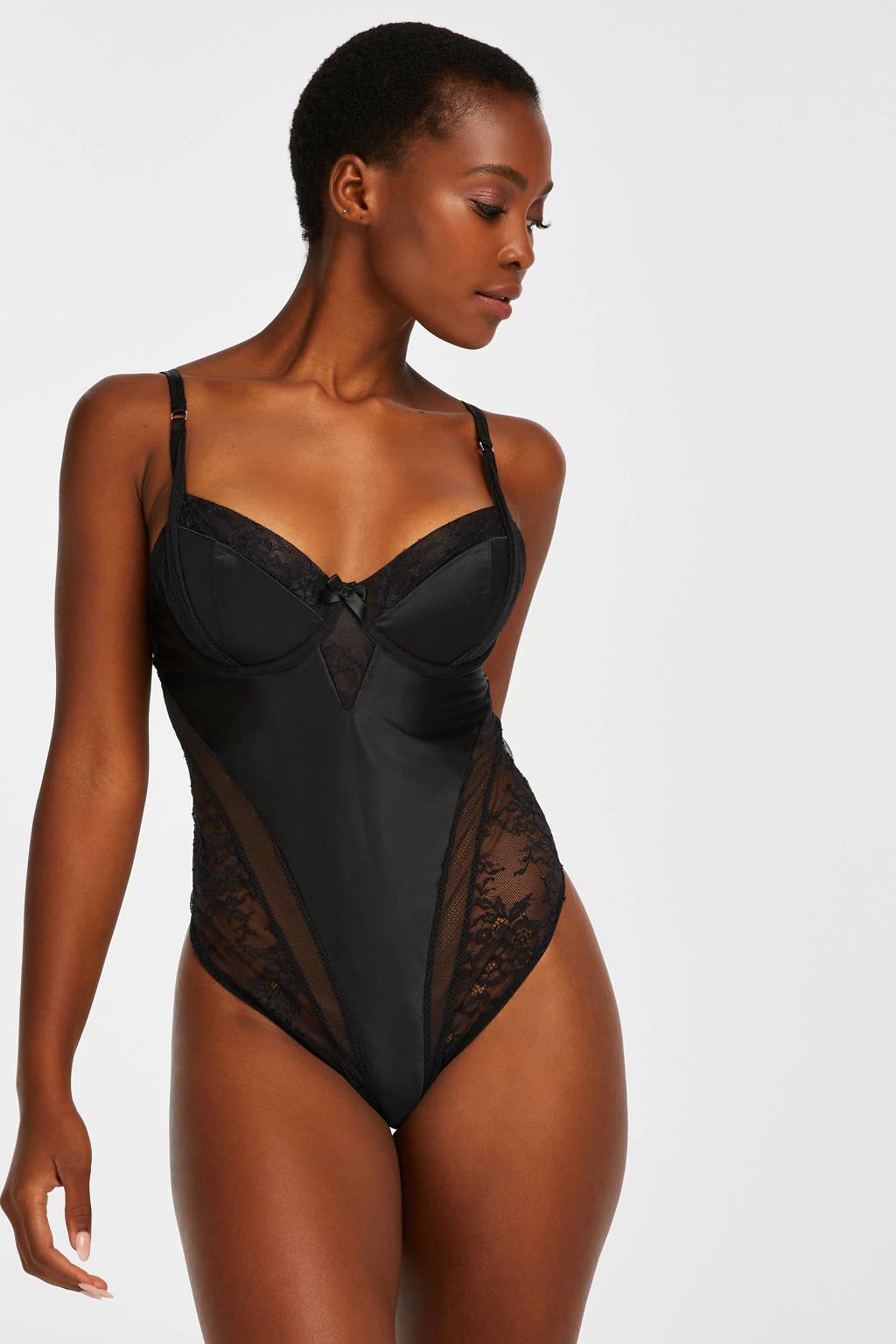 Hunkemöller body Nada zwart, Zwart
