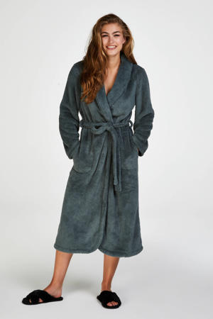 fleece badjas groen