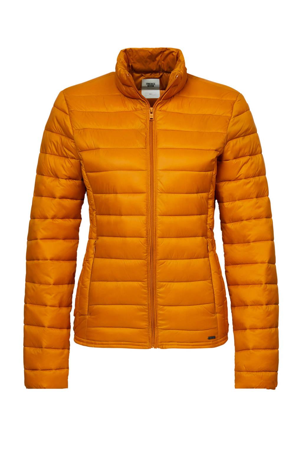 America Today gewatteerde tussenjas oranje, Oranje